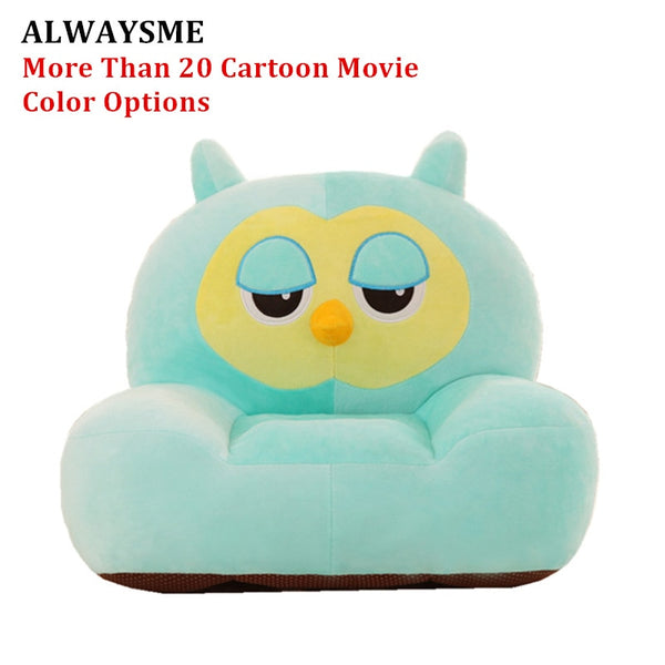 ALWAYSME Baby Kids Children Seats Sofa Bean Bag Baby Kids Children Plush Toys Without PP Cotton Filling Material Only Cover 50CM