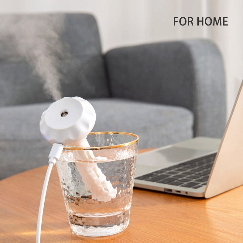 ELOOLE USB Portable Air Humidifier Diamond Bottle Aroma Diffuser Mist Maker For Home Office Humidification Detachable