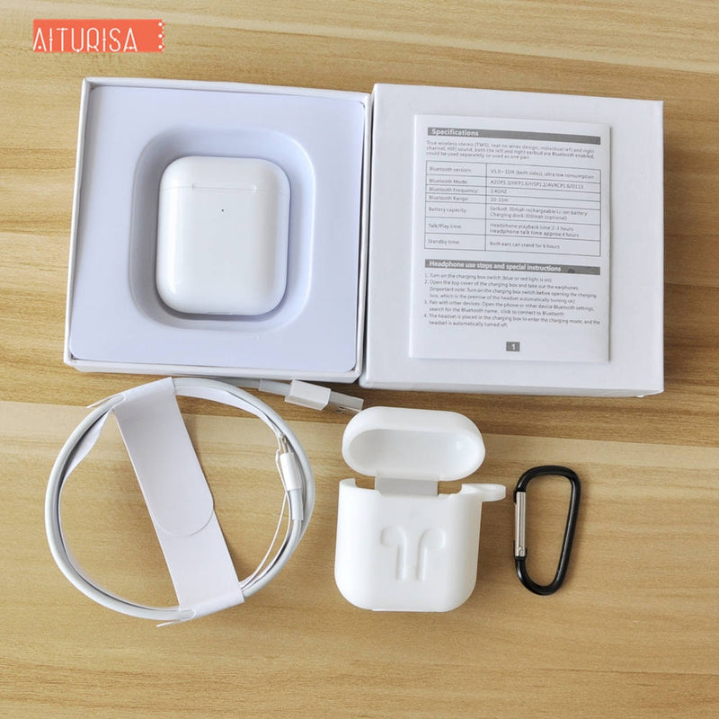 i200 tws 1:1 copy Air 2 Wireless Bluetooth Earphone Pop-up In-ear Detection Headphone Mic Call With Charging Box pk i500 i80 i90
