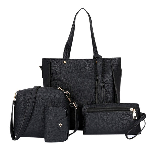 Four-piece Bag Luxury Handbags Women Bags Designer 2019 New Fashion four-piece Suit Shoulder Bag Messenger Bag Wallet