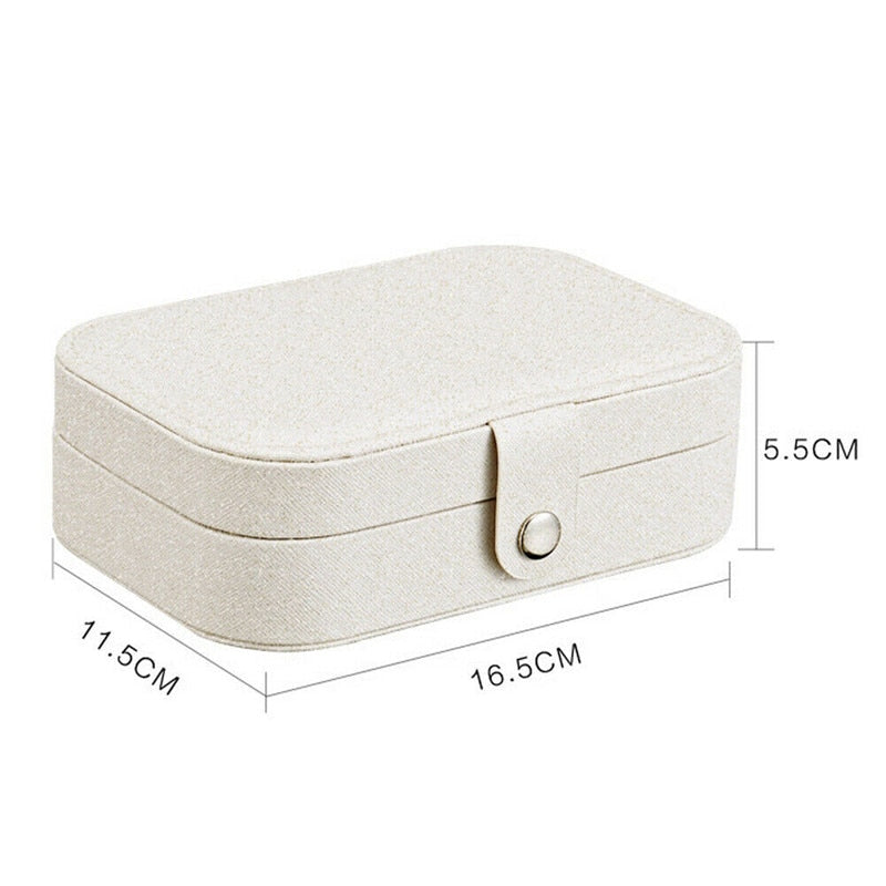 2020 Universal Jewelry Organizer Display Travel Jewelry Case Boxes Portable Jewelry Box Button Leather Storage Zipper Jewelers