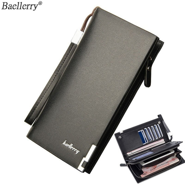 Baellerry Zipper Wallet Male Card Holder 2019 Men Purses Clutches Fashion Man Wallets Long Leather With Coin Pocket Organizer