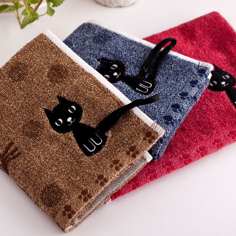 Cat Printed High Quality Towels 25x50cm Couple Household Cotton Soft Face Towel Child Towel Popular Cute Cartoon Hot Sale 1PC