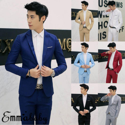 7 Colors Men Blazers Brand 2019 Korean Style Men's Blazers and Jacket Slim Fit Solid Casual Suits Jacket