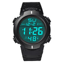 Fashion Waterproof Men's Boy LCD Digital Stopwatch Date Rubber Sport Watch Luminous wrist watch Luxury Brands Sport 2019 A80