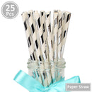 25Pcs Paper Drinking Straws Wedding Hen Party DIY Table Decoration Birthday Kids Its a Boy Girl Baby Shower Adult Supplies