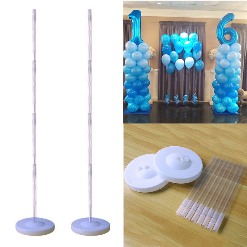 Cyuan Birthday Balloon Column Kit Plastic Balloon Arch Stand with Base and Pole for Birthday Party Latex Ballons Holder Wedding