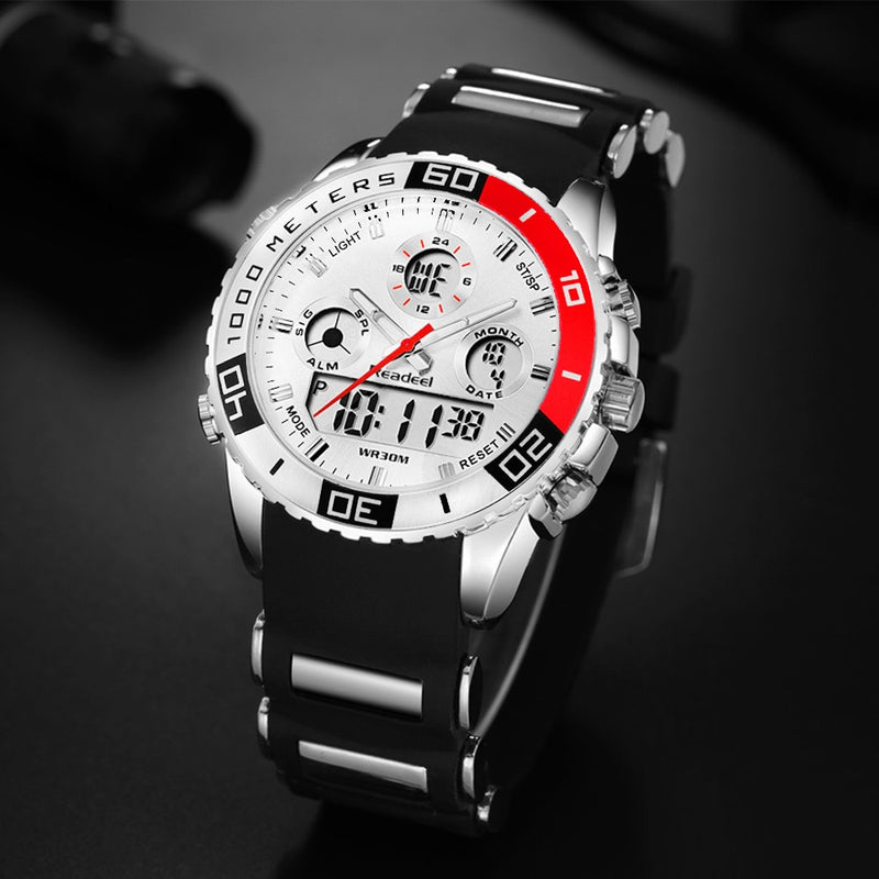 Top Brand Luxury Watches Men Rubber LED Digital Men's Quartz Watch Man Sports Army Military Wrist Watch erkek kol saati