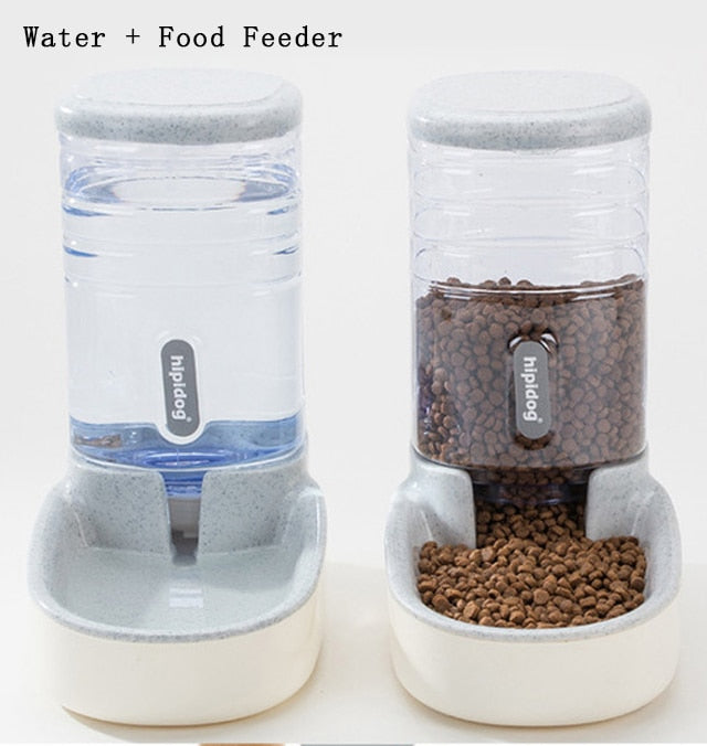 Petshy 3.8L Pet Cat Automatic Feeders Plastic Dog Water Bottle Large Capacity Food Water Dispenser Cats Dogs Feeding Bowls