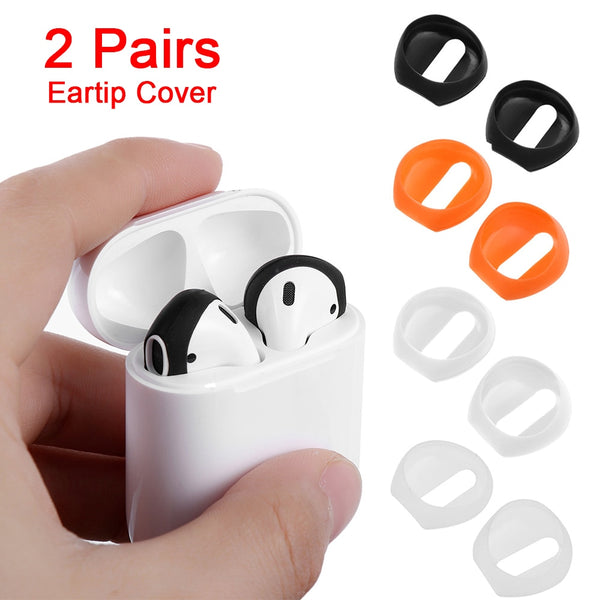 New Fashion Color 2 pairs Soft Ultra Thin Earphone Tips Anti Slip Earbud Silicone Earphone Case Cover For Apple AirPods Earpods