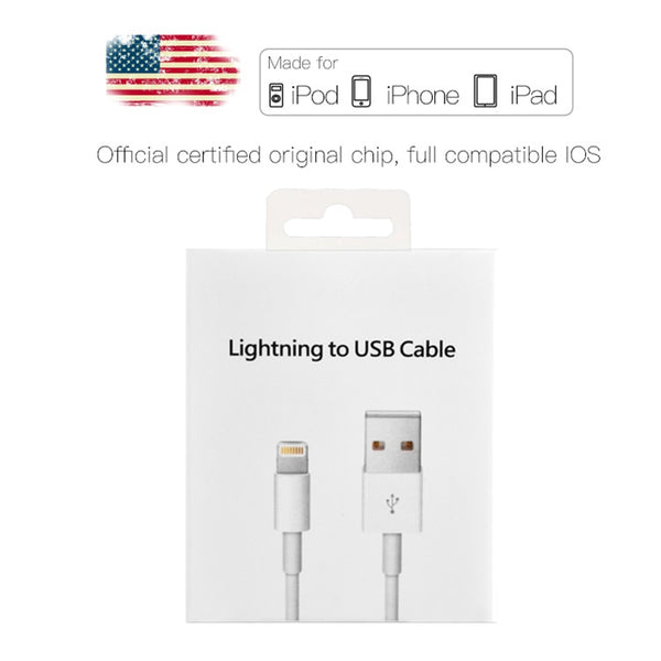 2m Original USB Data Charging Cable For iPhone 5 5S 6 6S 7 8 Plus X XS Max XR Fast Charger Phone Cables for iPad mini 2 3 Air 2