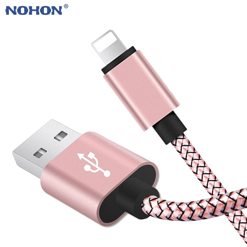 20cm 1m 2m 3m Data USB Charger Cable For iPhone 6s 6 s 7 8 Plus Xs Max XR X 10 5s iPad Nylon Fast Charging Origin Long Wire Cord