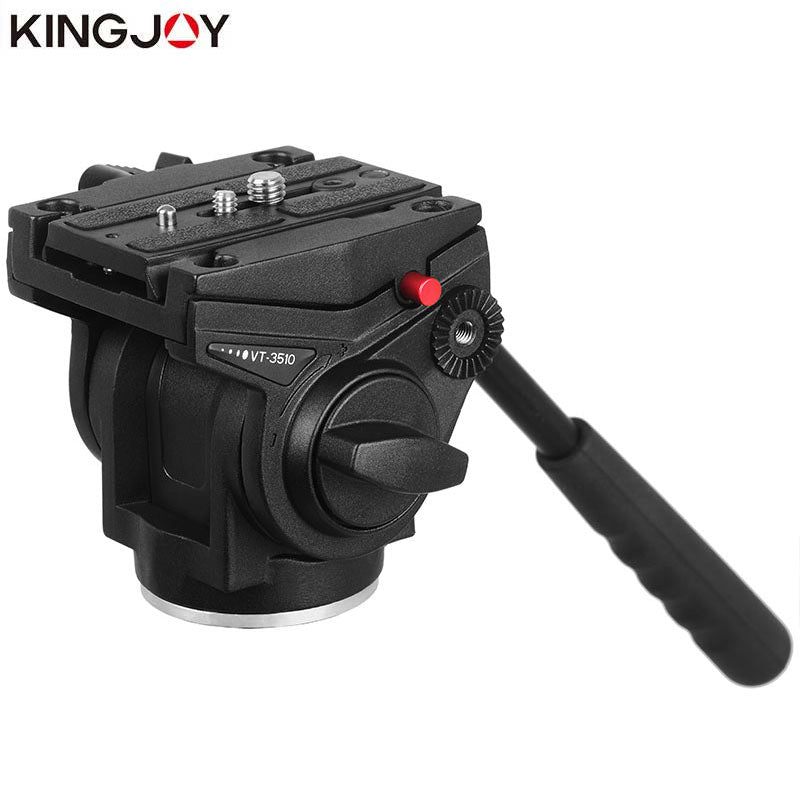 KINGJOY Official VT-3510 Panoramic Tripod Head Hydraulic Fluid Video Head For Tripod monopod Camera Holder Stand Mobile SLR DSLR