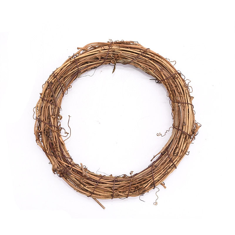 Wedding Decoration Wreath Natural Rattan Wreath Garland DIY Crafts Decor For Home Door Grand Tree Christmas Gift Party Ornament
