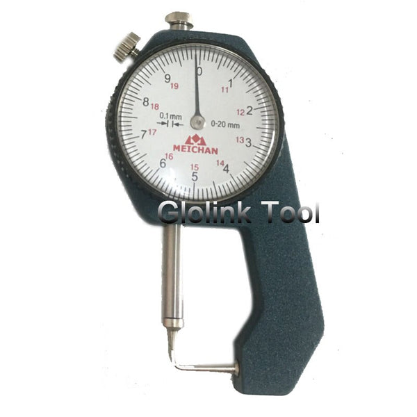 Dial Thickness Gauge 0-20mm 0.1mm Precision Aluminum Min Thickness Meter Tester Micrometer Width Measurement Analysis Tool