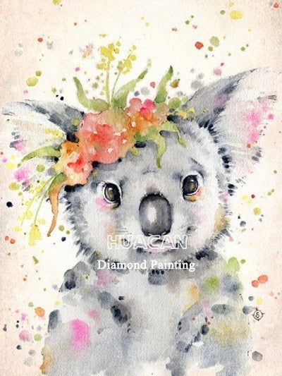 Huacan 5D DIY Diamond Painting Animal Full Square Diamond Embroidery Sale Rhinestone Picture Diamond Mosaic Gift Drop Ship