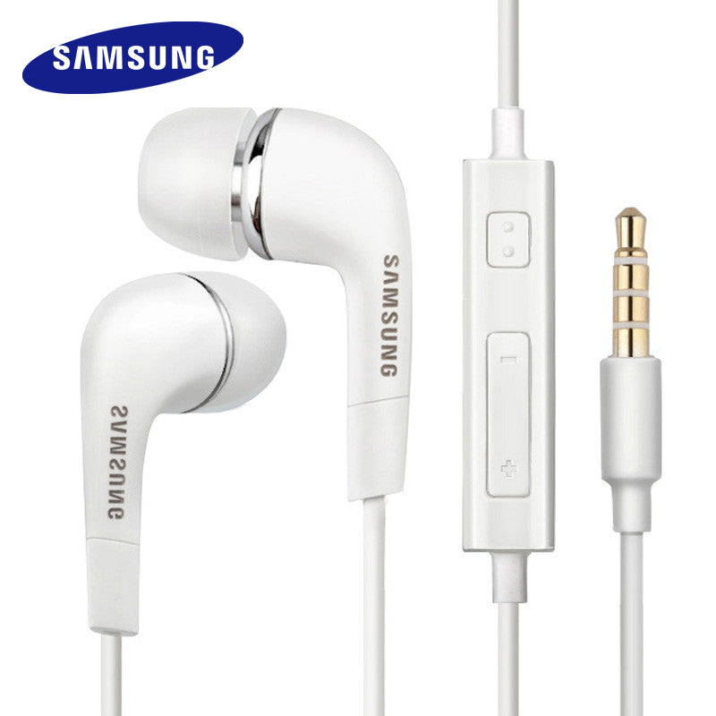 Samsung Earphones EHS64 Headsets With Built-in Microphone 3.5mm In-Ear Wired Earphone For Smartphones with free gift (White)