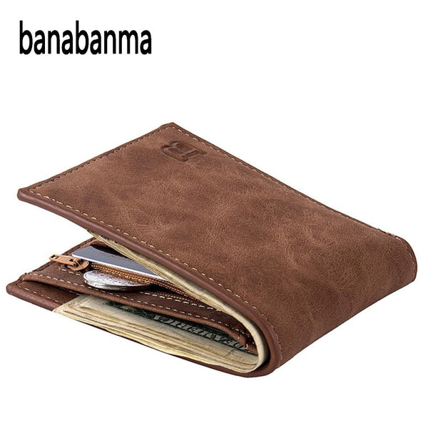 Men Wallet Short Bifold PU Leather Men Purses Fashion multifunction Coin Bag Zipper Small Money Purses clutch Money Clip ZK30