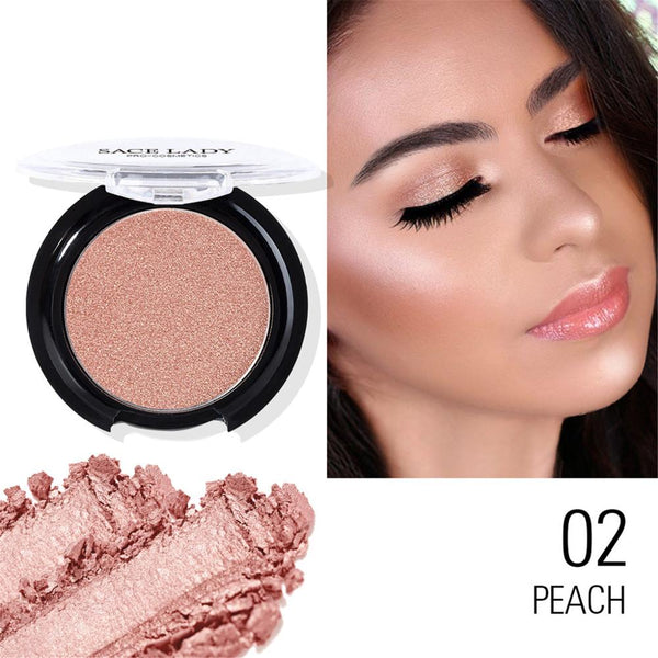 New Beauty Blush Face Grooming Powder Highlighter Blusher Smooth Makeup Contour Face Foundation Powder Cream Concealer Cosmetic