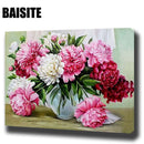 BAISITE DIY Framed Oil Painting By Numbers Flowers Pictures Canvas Painting For Living Room Wall Art Home Decor E781