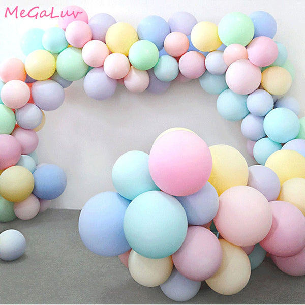 30pcs Macarons Latex Ballon Balony Birthday Party Candy Balloons Birthday Party Decorations Girl Boy Baby Shower Wedding Golobos