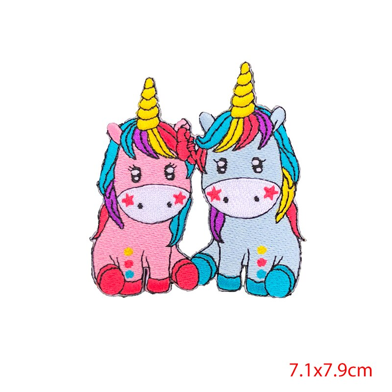 Prajna Cartoon Unicorn Planet Things Iron On Patches For Clothing Embroidery Stripe On Clothes Cute DIY Sequin Applique Badge