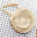 Bohemian Straw Bags for Women Circle Beach Handbags Summer Rattan Shoulder Bags Handmade Knitted Travel Big Totes Bag 2019 New