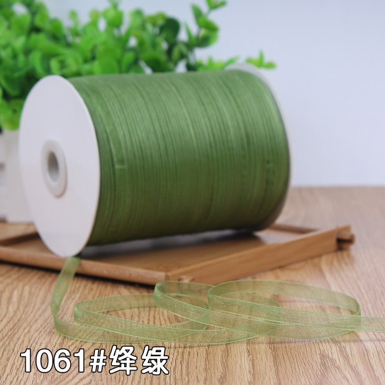 Champagne (10 Meters/lot) 1/4''(6mm) Organza Ribbons Wholesale Wedding Christmas Birthday Party Decoration Gift Wrapping Ribbons
