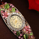 Fashion Multicolor Flower Bracelet Watch Women's Watches Luxury Rhinestone Ladies Watch Women Watches Clock reloj mujer
