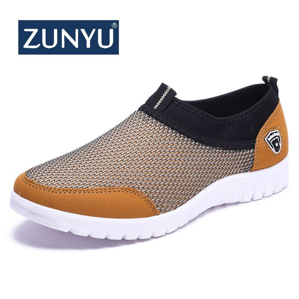 ZUNYU 2019 Summer Mesh Shoe Sneakers For Men Shoes Breathable Men's Casual Shoes Slip-On Male Shoes Loafers Casual Walking 38-48