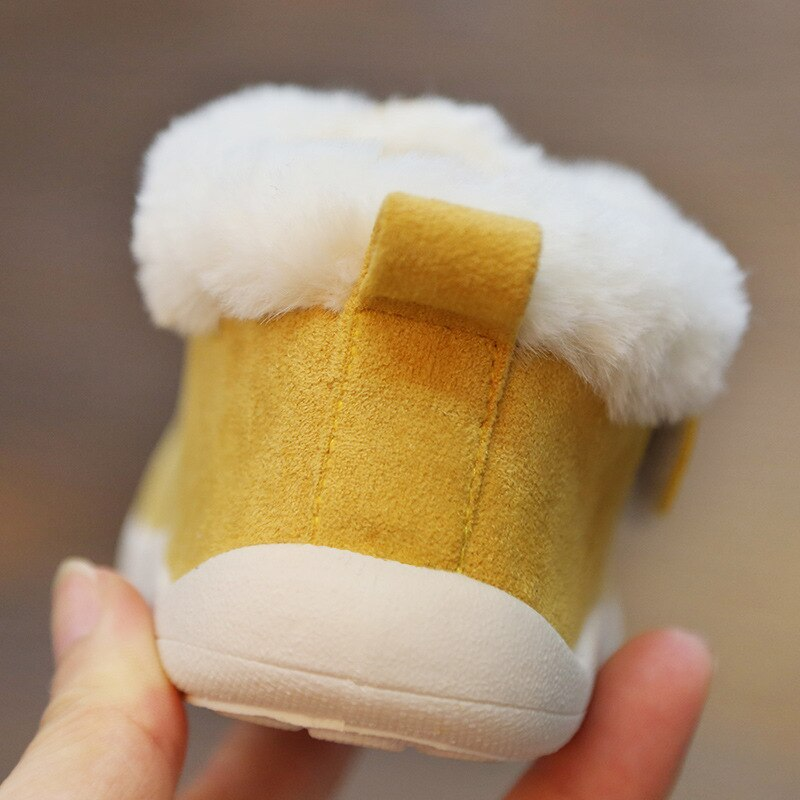 2019 Winter Infant Toddler Boots Warm Plush Baby Girls Boys Snow Boots Outdoor Soft Bottom Non-Slip Child Kids Boots Shoes