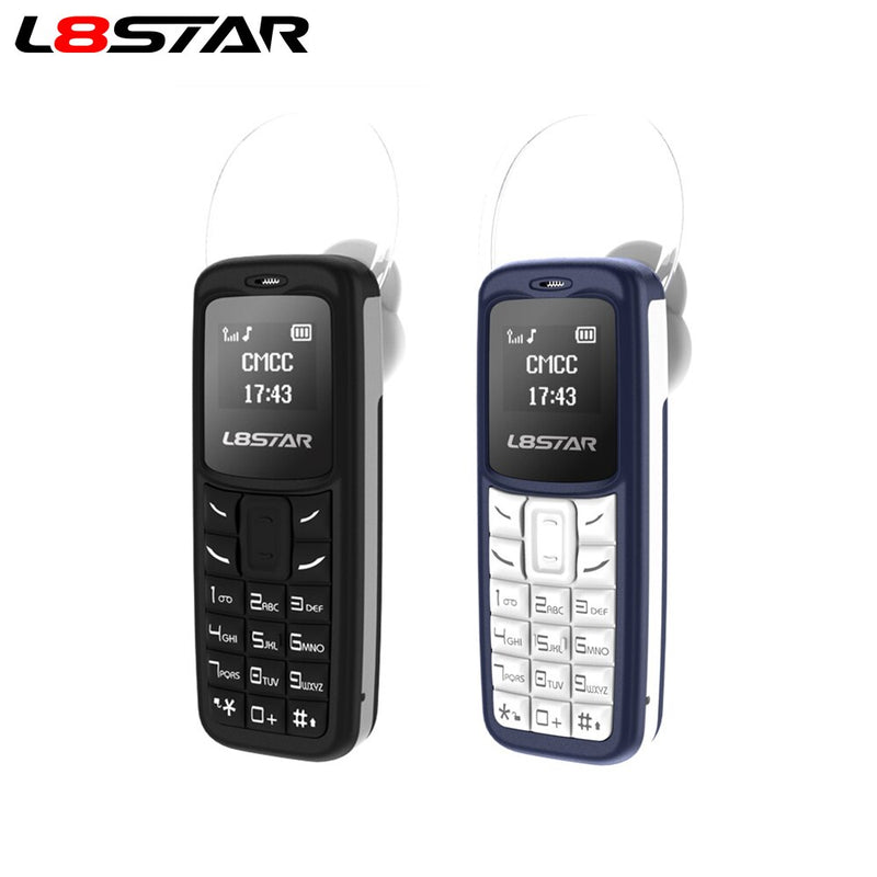 L8STAR BM30 Mini Phone SIM+TF Card Unlocked Cellphone GSM 2G/3G/4G Wireless Headphone Bluetooth Dialer Headset Mobile with Mp3