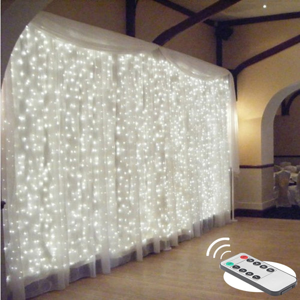 2/3/6m remote LED curtain fairy Lights string Christmas led patio party wedding window decor outdoor string Lights for new year