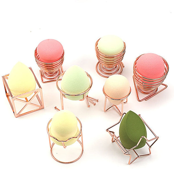 High Quality Mini Makeup Puff Rack Drying Hanger Beauty Makeup Powder Puff Blender Storage Rack Sponge Drying Stand Holder