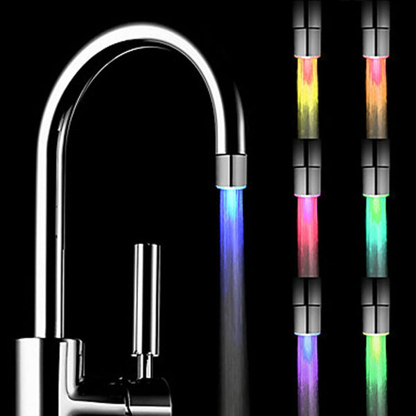 Home Bedroom LED Water Faucet Creative LED Light Shower Head Water Romantic 7 Color Change  Bath Home Bathroom Glow Lamps