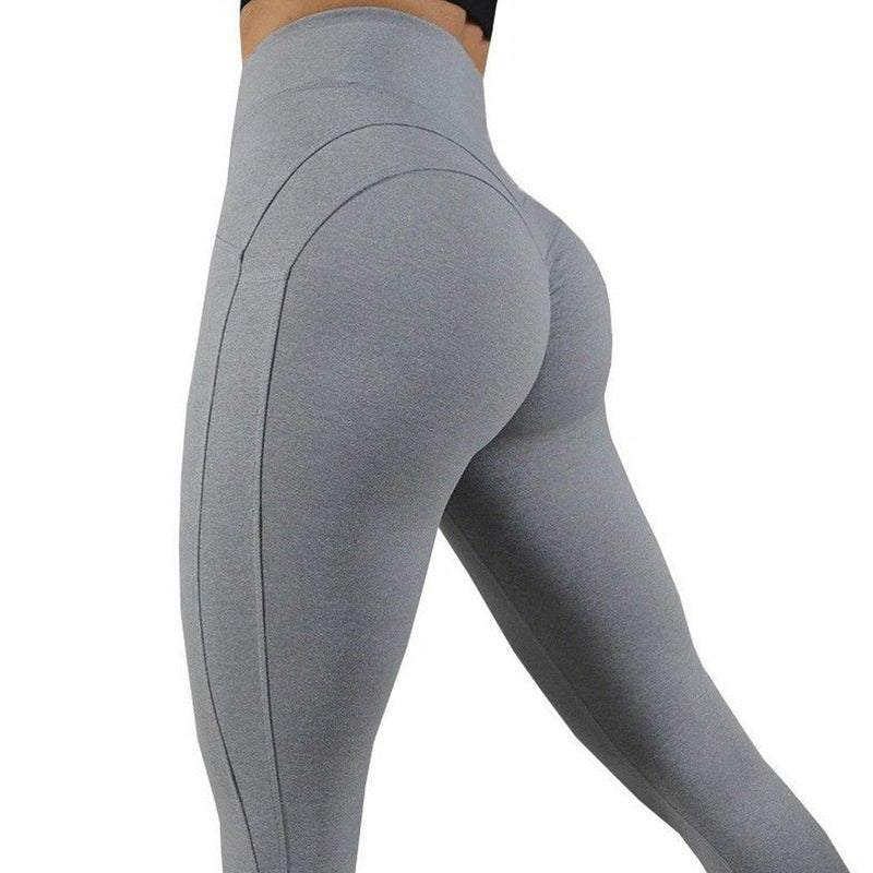 High Elastic Yoga Pants Women Sport Leggings Tights Slim Running Sportswear Solid Ladies Quick Drying Training Fitness Trousers