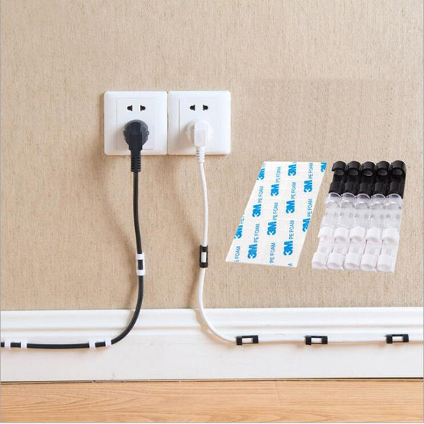 Wire Cable Clips Organizer Desktop & Workstation Clips Cord Management Holder USB Charging Data Line Cable Winder