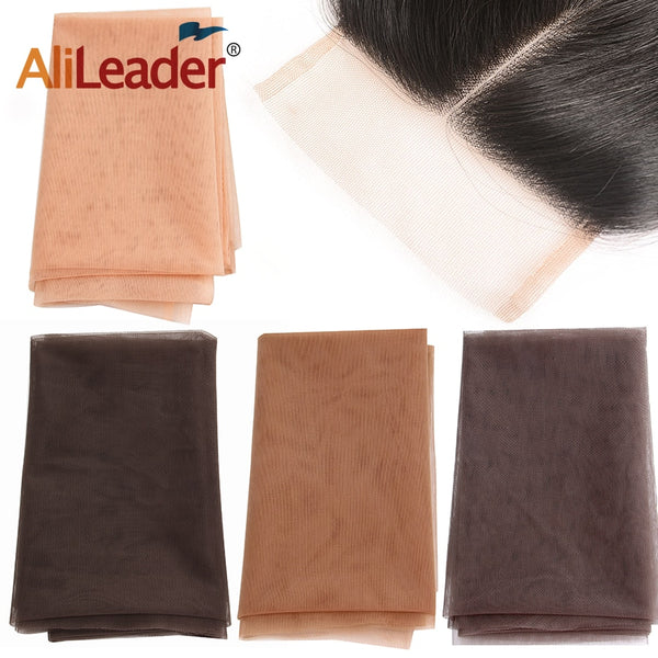 Alileader Transparent Lace For Making Or Ventilating Lace Wig Cap Lace Front Or Full Lace Wig Base 1/4 Yard