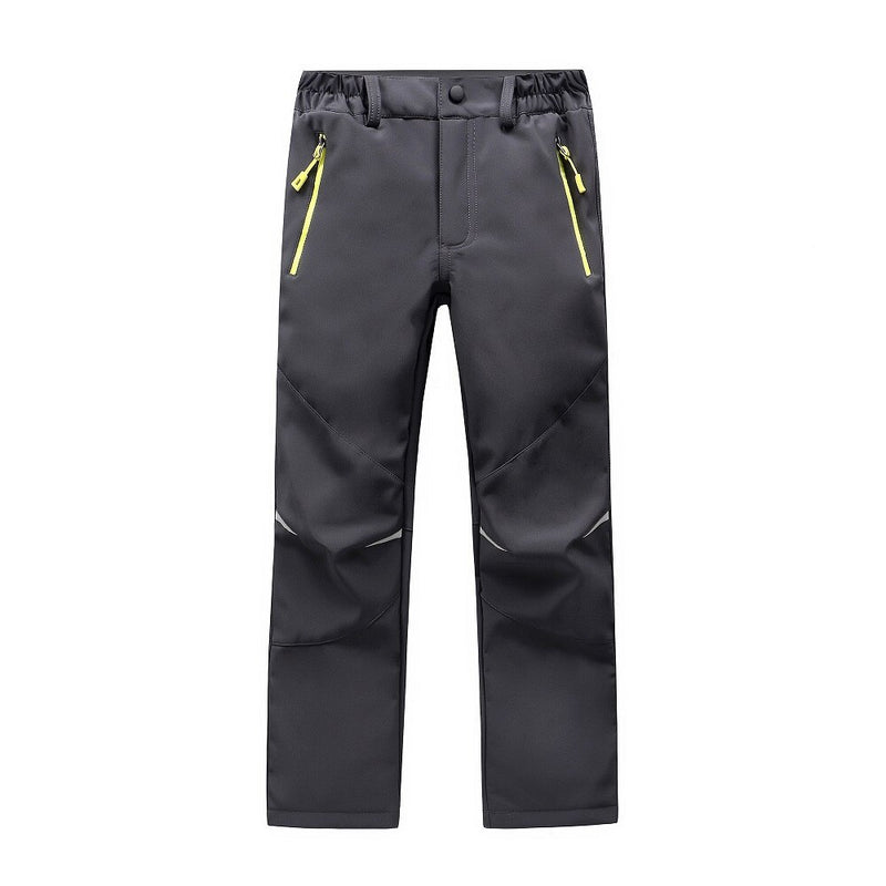 Brand Waterproof Windproof Boys Girls Pants Children Outerwear Warm Trousers Sporty Climbing Trousers For 4-14 Years Old
