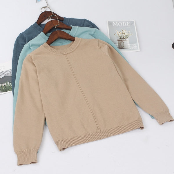 GIGOGOU Thick Autumn Winter Women Pullover Sweater Fashion Quality Knitted Jumper Top Soft Warm Female Sweater