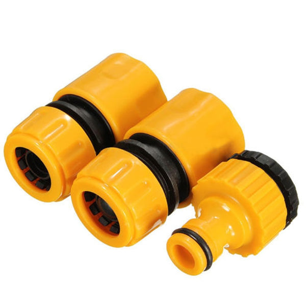 "3pcs Quick Tap Water Connector Adapter Fast Coupling Adaptor Drip Tape 3/4""and 1/2"" Barbed Irrigation Hose Connector Garden Tool"