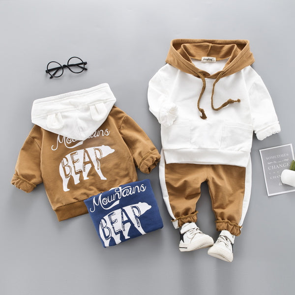 Toddler Boys Clothes 2019 Autumn Winter Kids Clothes Hooded+Pant Outfit Children Clothing Suit For Boys Clothing Sets 2 3 4 Year