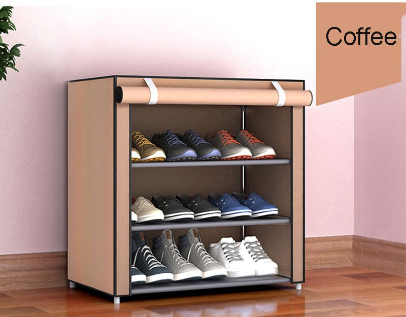 Non-woven Fabric Storage Shoe Rack Hallway Cabinet Organizer Holder 4/5/6 Layers Assemble Shoes Shelf DIY Home Furniture