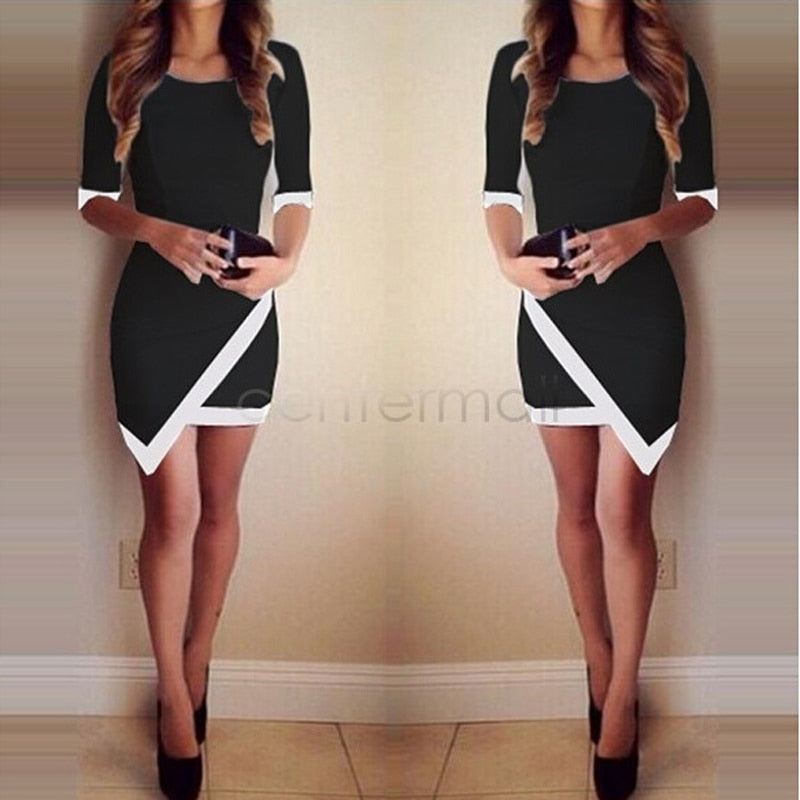2019 Fashion Dress Women Bandage Bodycon Half Sleeve Evening Sexy Party Mini Dress Ladies Short Mini Dress Vestidos