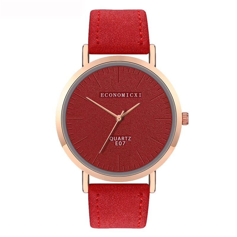 Trend Style Womens Watch Leather No Scale Blank Dial Ladies Girls Watch In Quartz Watches Relogio Orologi Donna Relojes Mujer *A