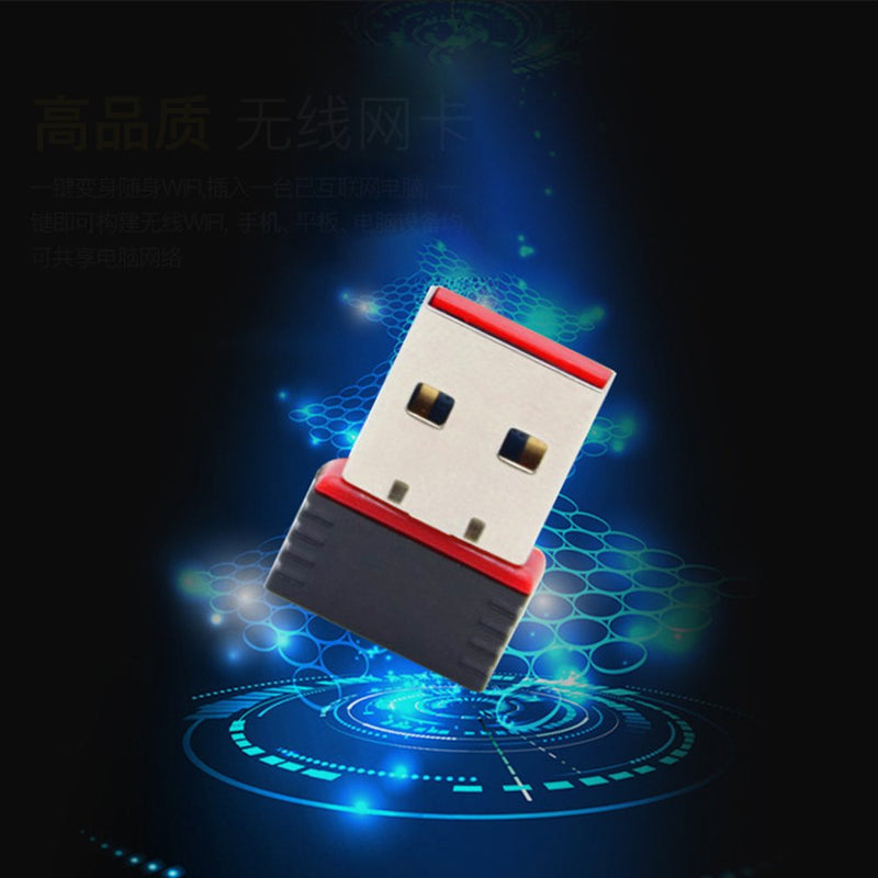 Mini 150Mbps USB 2.0 WiFi Wireless Adapter 150 Network LAN Card 802.11 Wireless Adapter fit for Apple Mt7601 Red Edge