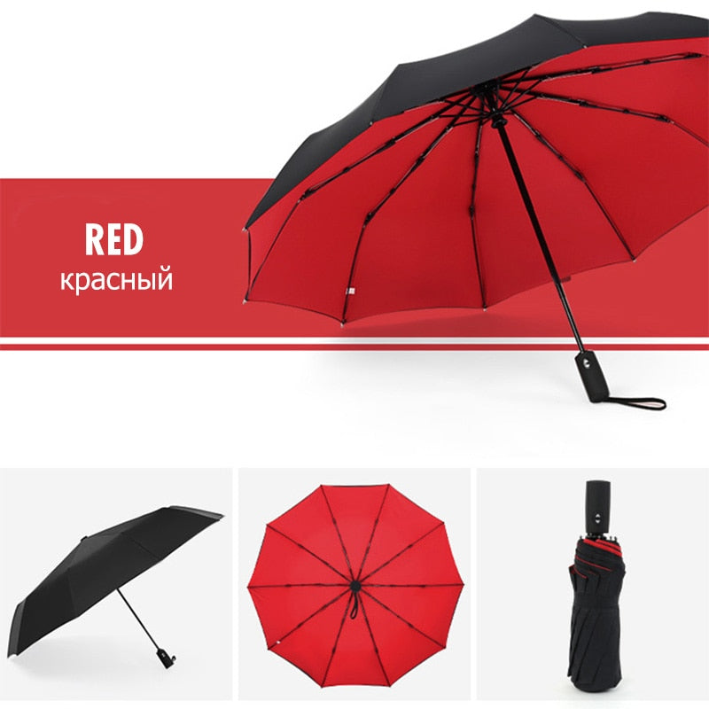 Windproof Double Automatic Folding Umbrella Female Male Ten Bone Car Luxury Large Business Umbrellas Men Rain Women Gift Parasol