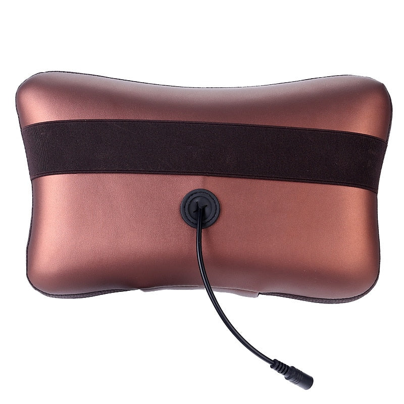 328 Sale Shiatsu Massage Pillow Infrared Heating Neck Shoulder Back Body Massager Device Cervical Health Care Massageador