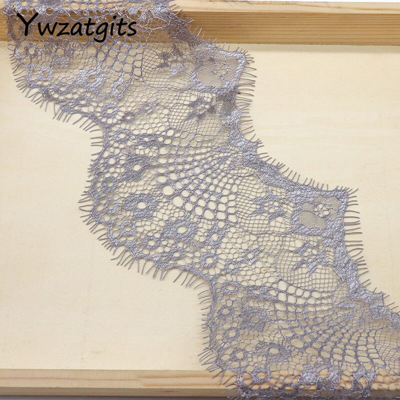 3Yards 9.5cm 11 colors option Flower Embroidered Lace Fabric Trim Ribbons DIY Sewing Handmade Materials YR0503