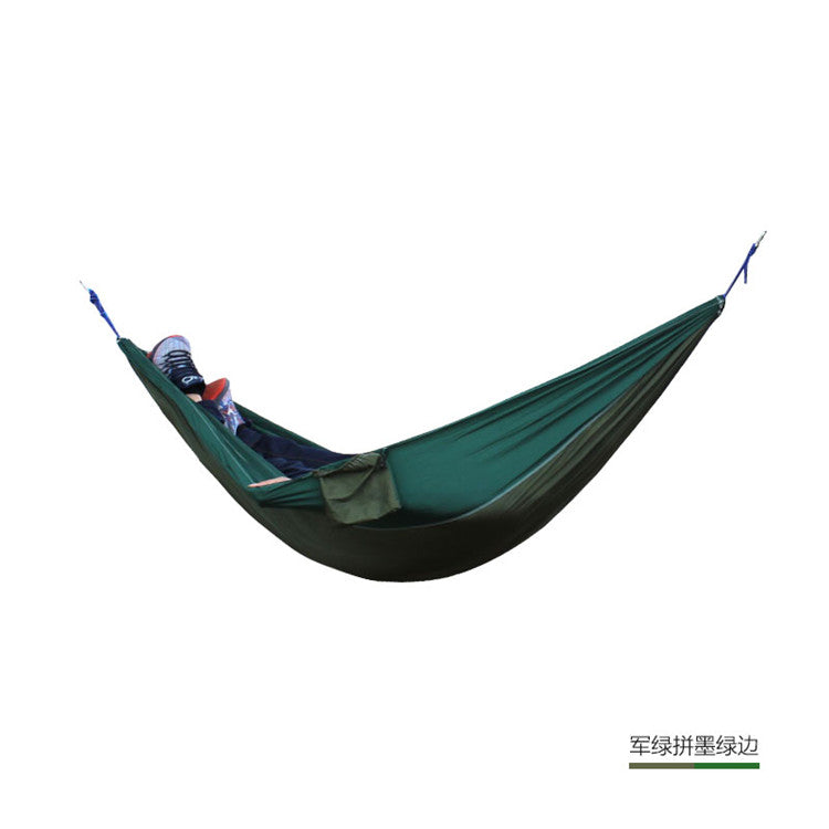 Single Double Hammock Adult Outdoor Backpacking Travel Survival Hunting Sleeping Bed Portable With 2 Straps 2 Carabiner